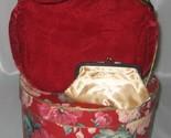 Markay red velvet handbag thumb155 crop