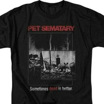 Stephen Kings Pet Sematary retro 80's horror movie black t-shirt PAR537 image 2