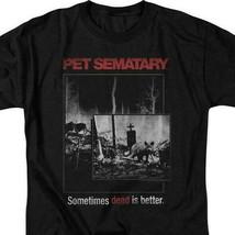 Stephen Kings Pet Sematary retro 80s horror movie black t-shirt PAR537 image 2