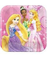 Disney Princess Sparkle and Shine Dessert Plates 8 Ct Birthdays by Hallmark - $4.45