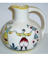 Charming Vintage Hand Painted Quimper Pottery Ewer - $28.00