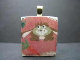 Floppy Eared Bunny - Scrabble Tile Pendant - $5.00