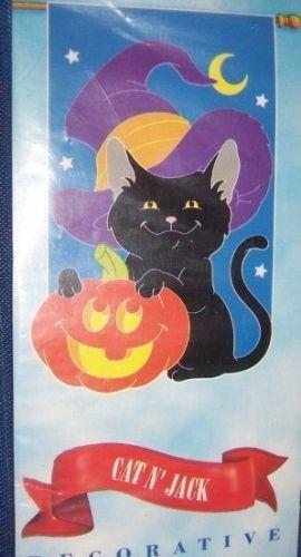 Halloween Cat Jack O Lantern Flag Black Cat Pumpkin NEW