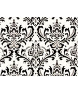 "Damask Wedding Traditions Table Squares Black White 18"" - $7.50"