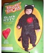 Black Kitty Toddler Costume Light Up Heart NEW Throbs - $21.00