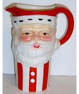 Large Vintage Ceramic SANTA Pitcher - GREAT FACE!  - $35.00