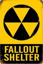 Fallout Shelter Vintage Metal Sign - $30.00