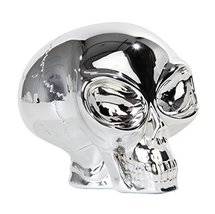 PTC Pacific Giftware Big Eyed Alien Skull Chrome Finished Statue Figurin... - £15.03 GBP