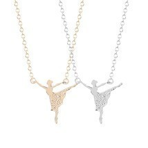 Style Beautiful Unique Ballerina Girl Dance Necklace Pendant Jewelry Gif... - $7.99