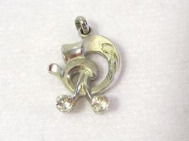 Vintage sterling silver White stone pendant - $6.00