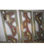 Giant Old Painted Wooden Carnival Panels c1930 - $1,500.00