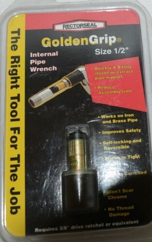 Rectorseal 97250 Golden Grip Internal Pipe Wrench Size One Half Inch