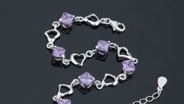 925 Sterling Silver Bracelet with Top Quality Zircon DL2 image 5