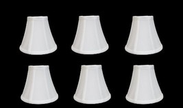 Urbanest 1100329c Chandelier Lamp Shades 6-inch, Bell, Clip On, White (S... - $65.99