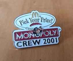 McDonald's Monopoly Pick Your Price 2001 Lapel Crew Employee Pin Advertising - $7.42