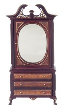 Dollhouse Miniature Platinum Collection Mahogany Harding Armoire #P7314 - $189.99