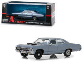 "1967 Chevrolet Impala Sedan Steel Blue ""The A-Team\"" (1983-1987) TV Ser... - $30.34"