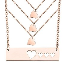 WUSUANED Mother Daughter Necklace Set Heart Bar Necklace Set Mommy Daugh... - $16.93