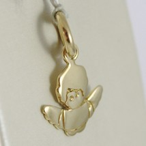 Pendant Angel Guardian in Yellow Gold 750 18K, Long 1.8 cm, Solid, Stylized image 2