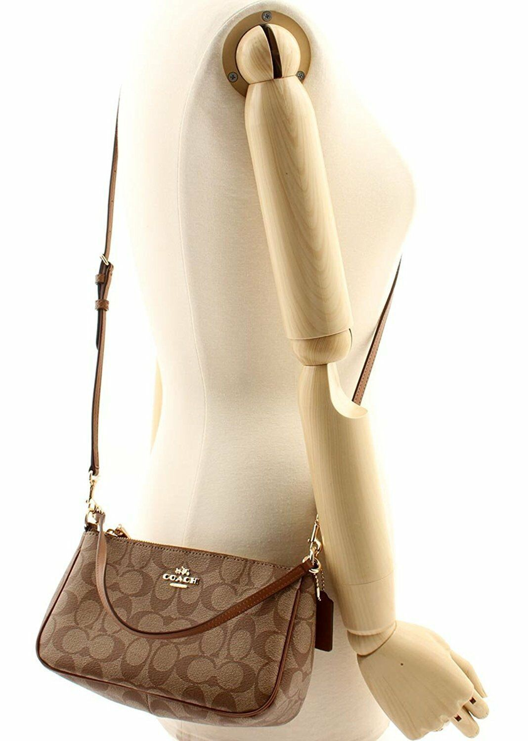 Coach F58321 Signature Messico Top Handle Pouch Purse Crossbody Mini Bag
