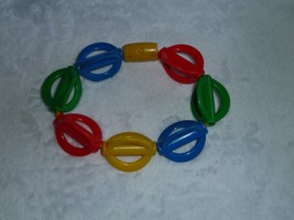 VINTAGE 1994 THE FIRST YEARS PRIMARY COLOR RED BLUE GREEN YELLOW TEETHER... - $19.79