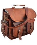 """15"""" distressed Leather messenger bag laptop bag computer case shoulder b... - $58.41"""