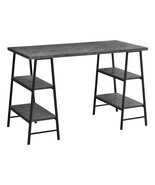 "Modern Industrial Sawhorse Legs-4 Shelves-Home Office Computer Desk, 48""... - $195.84"