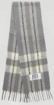 EDGII Classic Cream Gray Cotton Candy Woolen Scarf - $39.99