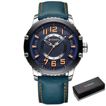 CURREN Casual Leather Watch for Men Style Business Wristwatches New Relojes Homb - $56.42
