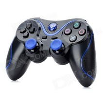 Dual-Shock Wireless Bluetooth Controller for Sony PS3 - Black + Blue - $20.91