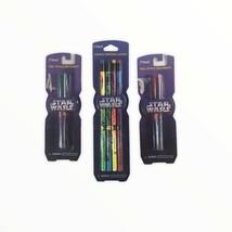 Star Wars Pen & Pencil Lot 2 packs pens, 1 pack pencils. Unopened. - $24.74