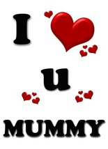 A5 Personalised I LV U MUMMY Card THANKYOU Birthday GET WELL SOON PID138 - $4.05