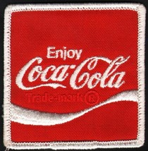 Vintage Enjoy Diet Tab Pop Soda Uniform Patch Sew On Coca Cola Coke