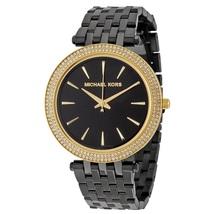 Michael Kors Black IP Darci mk3322 Gold Tone Watch - $159.00