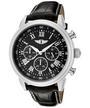 Invicta Men's 90242-001 Chronograph Stainless Steel Black Dial Watch New - $125.00