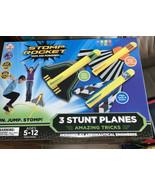 Stomp Rocket 4000 Stunt Planes Kit, 3 stunt planes amazing tricks,Flips... - $24.20