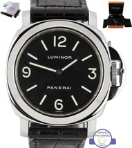 1999 Panerai PAM 00002 Luminor Automatic Stainless Black 44mm Watch PAM 002 - $5,993.95