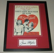 June Allyson Signed Framed 11x14 Photo Display The Secret Heart - $42.18