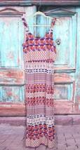Roz & Ali 10 Dressbarn White Orange Purple Boho Polka Dot Rayon Maxi Dre... - $463,71 MXN