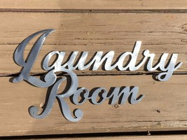 Metal Wall Art Decor Laundry Room One Piece Silver - $14.84