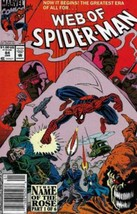 Web of Spider-Man #84 Newsstand Cover (1985-1995) Marvel Comics - $13.99