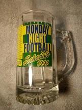 MONDAY NIGHT FOOTBALL 1998 BEER MUG--NFL SCHEDULE--LIMITED--FREE SHIP---VGC - $25.37