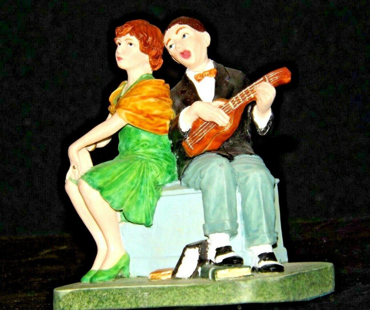 """Serenade"" by Norman Rockwell Figurine AA19-1659 Vintage"