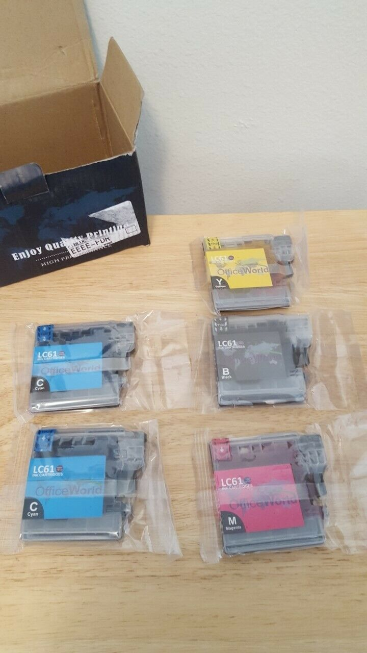 Primary image for Office World Ink Cartridges Repl. for Brother LC-61 LC61 Black Cyan Yellow Magen
