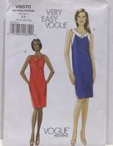 Vogue Very Easy Pattern V8570 Sizes 6-12 Misses Dress 2 Variations Uncut... - $29.65