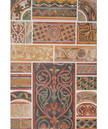 CHURCH PAINTINGS 13th C Clermont Cathedral & St. Michel - 1888 COLOR Lit... - $21.60