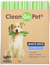 Clean Go Pet Lavender Scent Doggy Waste Bags, 400-Count, Quick-Tie Handl... - $26.37