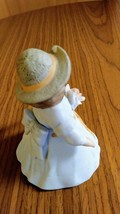 Giordano 1986 Handcraft Fine Bisque Porcelain Figurine Bessie H3805 Applied Rose image 4