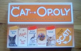 Cat-Opoly Board Game Crazy Cat Lady Russian Blue Persian Tabby Feline Game - $16.83