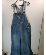 Womens Vintage Warner Brothers Looney Tunes Tweety Bird Overall Pants Si... - $8.78